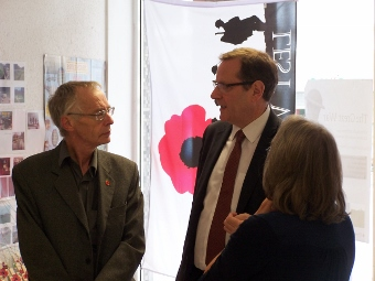David and Vivien Ellis talking to Phil Wilson, MP
