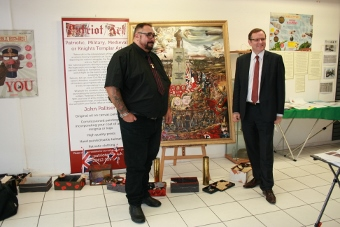 Phil Wilson MP with John Palliser and his WW1 painting