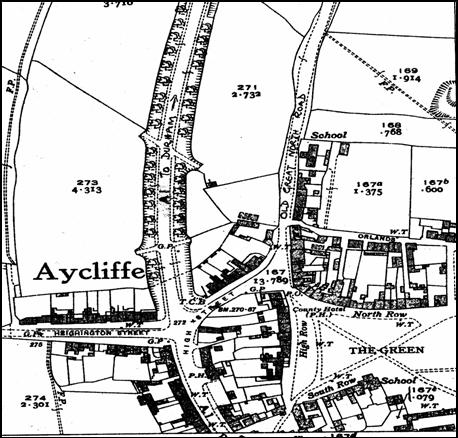 Aycliffe O.S. Map, 1939
